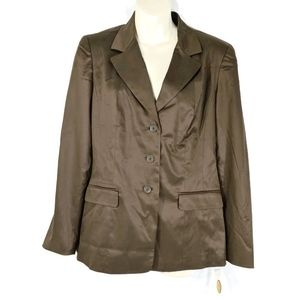 NWT $178 TALBOTS Stretch Silk Blend Blazer Size 6